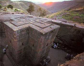St. George Church in Lalibela Eithopia it is carved out of the rock