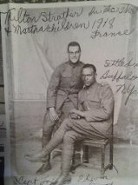 1918 Photo in WWI France members of the 371st Colored Troops (pictured are Edwin Strother & Friend) who trained at Camp Jackson SC near Columbia, SC.