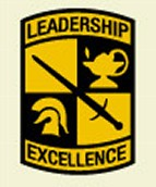 WVSU ROTC Leadership Patch of the ROTC Programs, West Virginia State University, Institute WV. Formerly known as  West Virginia State College a Historically Black College (HBCU) and  West Virginia State Colored Institute before that.