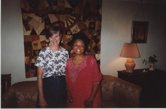 Cousin Lynn Strother Booram & Serena Strother Wilson in the Family home in Edgefield, SC