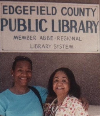 Teresa R. Kemp with her mother Serena Strother Wilson at the Edgefield Historical Society in Edgefield SC
