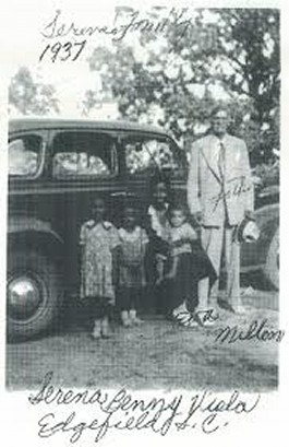 Milton & Mary Eva Strother with 3 of their 4 children in Edgefield South Carolina in 1937.