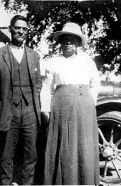 My great grandfather Milton & Martha Pixley (his 1st wife) Strother in Edgefield South Carolina.Martha's sister's children were all sold away by her slave master and she never found or heard from them again.