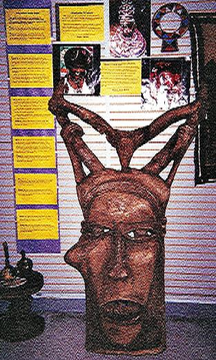 Large Zambian Mask was one of 200 on Display at the UGRR Secret Quilt Code Museum Exhibit 2005-2007