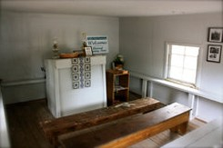 Interior of Praise House at Coffin Point Beaufort City, SC