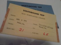 Railroad Train Tickets from Trips my family took