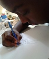 9 year old artist is the Illustrator of the Keeper of the Fire: An Igbo Metalsmith from Awka book.