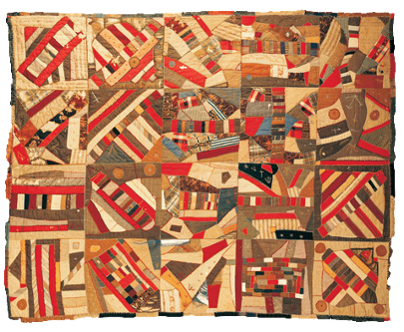 Patch Crazy  Quilt has African Vai language symbols and characters and was reported to be used on the American UGRR.